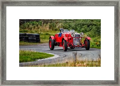 1937 Lagonda Framed Print by Adrian Evans