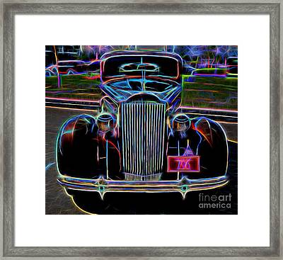 1937 Packard 120 Business Coupe - Vintage Car Framed Print by Gary Whitton