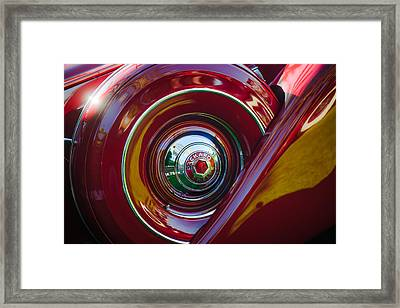 1937 Packard 1508 Dietrich Convertible Sedan Spare Tire Framed Print by Jill Reger