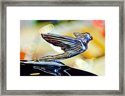1938 Cadillac V-16 Hood Ornament 2 Framed Print by Jill Reger