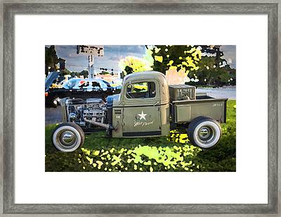 1938 Chevy Pick Up Truck Rat Rod Framed Print by Rich Franco