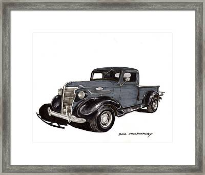 1938 Chevy Pickup Framed Print by Jack Pumphrey