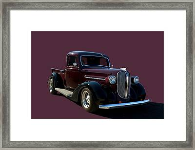1938 Plymouth Hot Rod Pickup Truck Framed Print by Tim McCullough