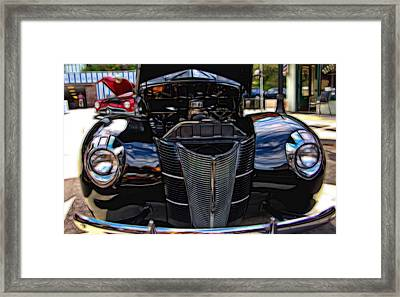 1939 Black Ford Coupe Framed Print by Thom Zehrfeld