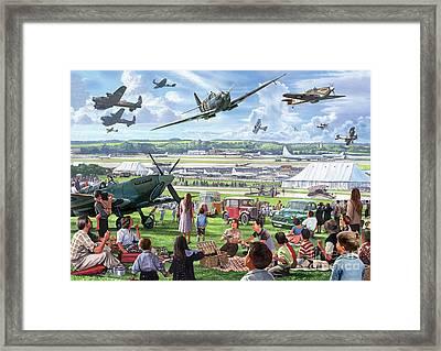 1940 Airshow Framed Print by Steve Crisp