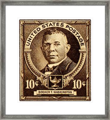 1940 Booker T. Washington Stamp Framed Print by Historic Image