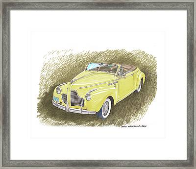 1940 Buick Super Convertible Framed Print by Jack Pumphrey
