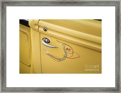 1940 Ford Pickup Truck Door Handle Car Or Automobile In Color  3 Framed Print by M K  Miller