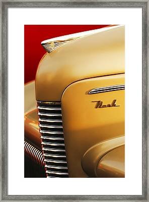 1940 Nash Sedan Grille Framed Print by Jill Reger