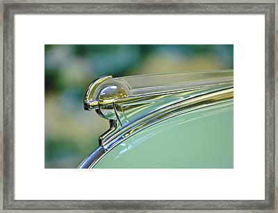 1940 Oldsmobile Hood Ornament Framed Print by Jill Reger