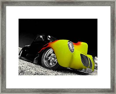 1940 Willys Pickup Framed Print by motography aka Phil Clark