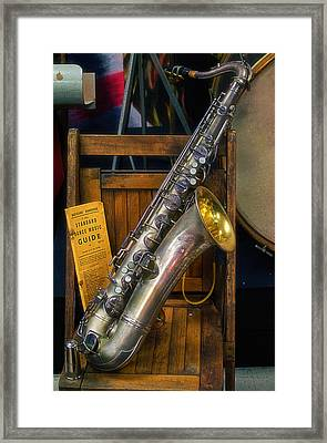1940ish Saxophone Framed Print by Thomas Woolworth