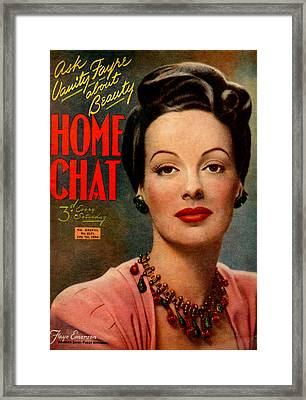 1940s Uk Home Chat Magazine Cover Framed Print by The Advertising Archives