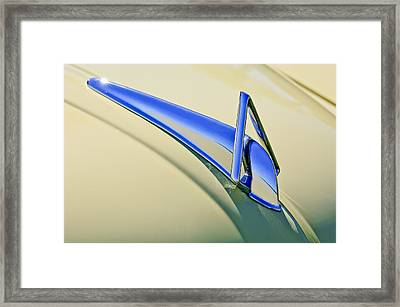 1949 Hudson Super Six  Hood Ornament Framed Print by Jill Reger