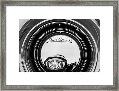1941 Lincoln Continental Spare Tire Emblem - 1963bw Framed Print by Jill Reger