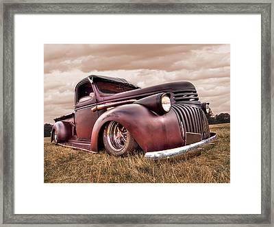 1941 Rusty Chevrolet Framed Print by Gill Billington