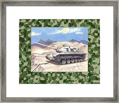 1942 General Patton M 60 Medium Tank Framed Print by Jack Pumphrey