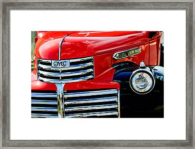 1942 Gmc  Pickup Truck Framed Print by Jill Reger