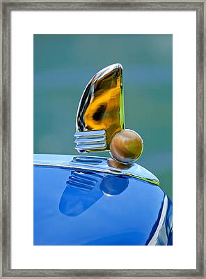 1942 Lincoln Continental Cabriolet Hood Ornament Framed Print by Jill Reger