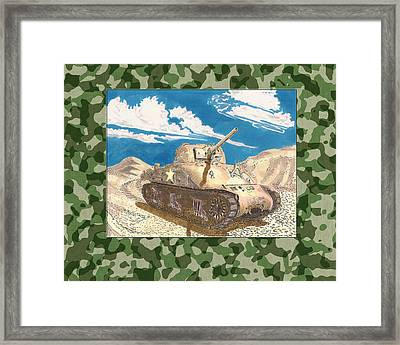 1943 Sherman M 4 H V S S Medium Tank Framed Print by Jack Pumphrey