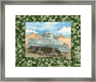 1943 Sturat M 5 Light Combat Tank Framed Print by Jack Pumphrey