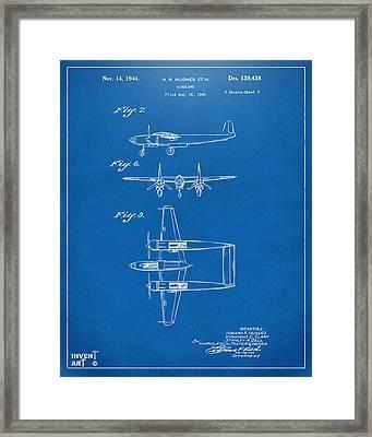 1944 Howard Hughes Airplane Patent Artwork 3 Blueprint Framed Print by Nikki Marie Smith
