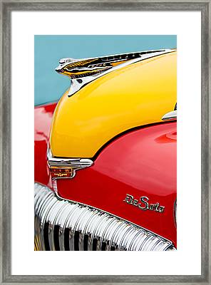 1946 Desoto Skyview Taxi Cab Hood Ornament Framed Print by Jill Reger