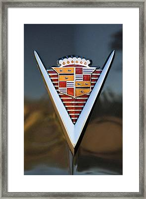 1947 Cadillac Emblem Framed Print by Jill Reger