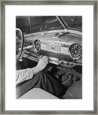 1947 Chevrolet Dashboard Framed Print by E. Earl Curtis