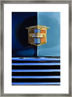 1947 Nash Surburban Hood Ornament Framed Print by Jill Reger