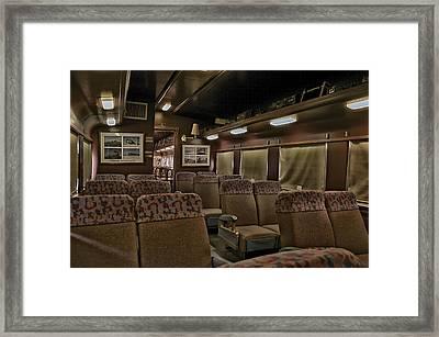 1947 Pullman Railroad Car Interior Seating Framed Print by Thomas Woolworth