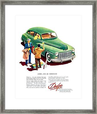 1948 - Dodge Automobile Advertisement - Color Framed Print by John Madison
