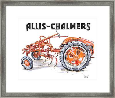 1948 Allis Chalmers-g Framed Print by Shannon Watts