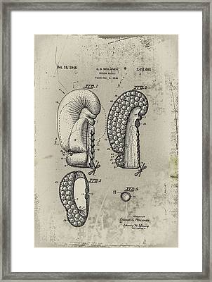 1948 Boxing Glove Patent Framed Print by Digital Reproductions