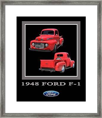 1948 Ford F 1 Poster Framed Print by Jack Pumphrey