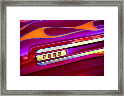 1948 Ford Pickup Framed Print by Carol Leigh
