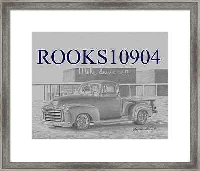 1948 Gmc Pickup Truck Art Print Framed Print by Stephen Rooks