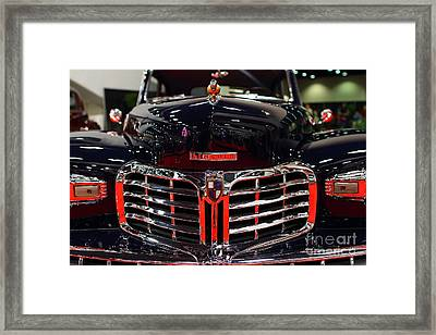1948 Lincoln Continental Coupe . Deep Blue . 7d9255 Framed Print by Wingsdomain Art and Photography