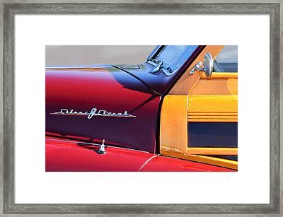 1948 Pontiac Streamliner Woodie Station Wagon Framed Print by Jill Reger