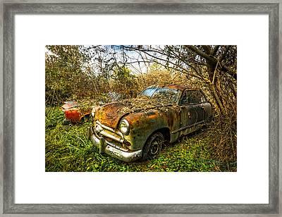 1949 Ford Framed Print by Debra and Dave Vanderlaan