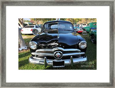 1949 Ford Police Car 5d26226 Framed Print by Wingsdomain Art and Photography