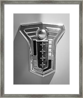 1949 Mercury Station Wagon Emblem Framed Print by Jill Reger
