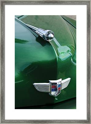 1949 Studebaker Champion Hood Ornament Framed Print by Jill Reger