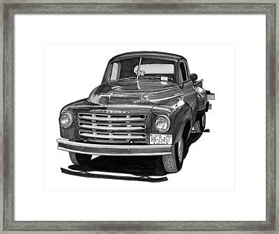 1949 Studebaker Pick Up Truck Framed Print by Jack Pumphrey
