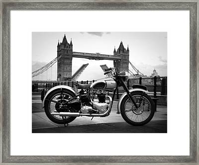 1949 Triumph T100 Framed Print by Mark Rogan