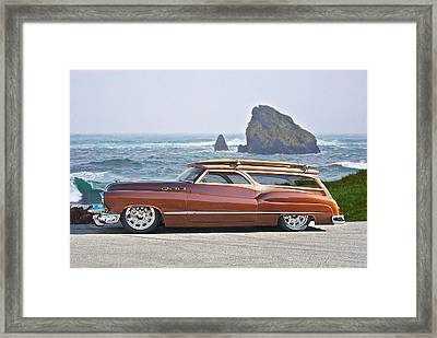 1950 Buick Woody Wagon V Framed Print by Dave Koontz