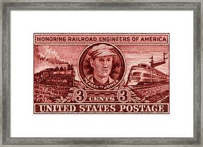 1950 Casey Jones Stamp Framed Print by Historic Image