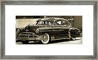 1950 Chevrolet Framed Print by Gwyn Newcombe