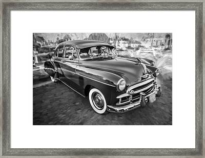 1950 Chevrolet Sedan Deluxe Painted Bw   Framed Print by Rich Franco