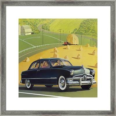 1950 Custom Ford - Square Format Image Picture Framed Print by Walt Curlee